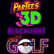Partee's 3D Blacklight Mini Golf Logo