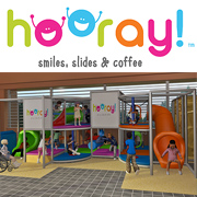 Hooray! Smiles, Slides & Coffee Logo