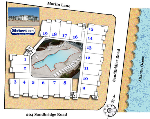 Map of Sandbridge Dunes Condos